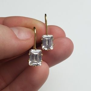 Jewelry - Cubic Zirconia Gold Lever Back Clasp Earrings